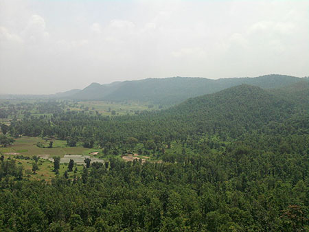 A View of Ranchi plateau and Damodar Valley