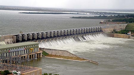 Alamatti Dam in Bijapur District