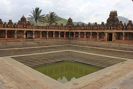 Templetank in Bhoganandishvara group of temples at Chikkaballapur district