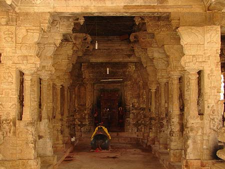 Entrance to mantapa hall in Someshvara Temple at Kolar