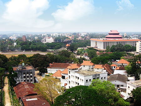 View of the Legislative Assembly area of Trivandrum.
