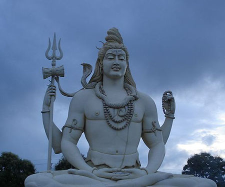 Shiv Statue At Kachnar City Jabalpur