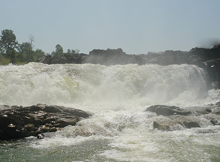 Waterfall on Johilla river, Umaria district, Madhya Pradesh, India