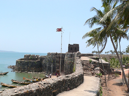 Entrance to the fort and main watch tower