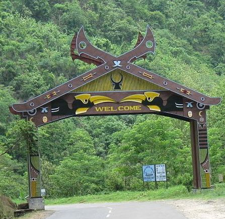 Entrance to Kohima district
