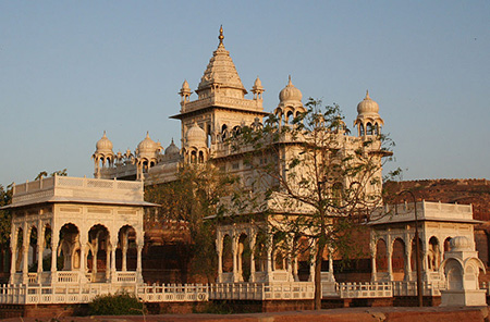 The Jaswant Thada mausoleum
