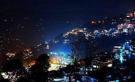 Gangtok night amit mitra