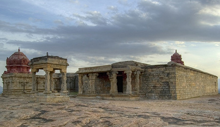 A 17th century temple in Dindigul Fort, Dindigul, Tamil Nadu