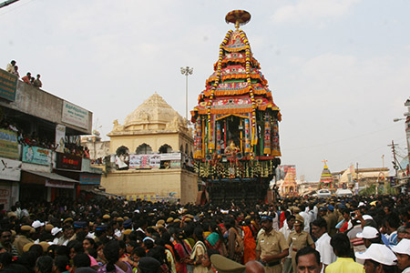 Shri Arunachaleswarar Car festival celebration at Tiruvannamalai