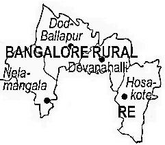 Bangalore Rural Map Bangalore Rural District | Bangalore Rural District Map