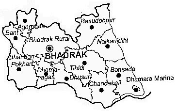 Bhadrak District | Bhadrak District Map