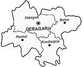 Deogarh District   Deogarh District Map