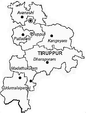 Tiruppur District | Tiruppur District Map