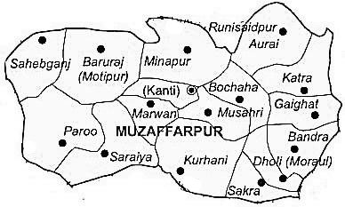 Muzaffarpur District | Muzaffarpur District Map