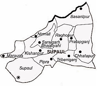 Supaul District | Supaul District Map